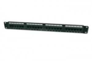 "Digitus Patch Panel 19"",CAT6,8P8C,LSA,1U,24 x RJ45, nestíněný,černý"