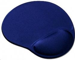 OEM Podložka pod myš ergonomická, gelová, pro praváky, modrá
