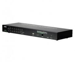 "Aten 16-port KVM USB+PS/2 OSD, rack 19""+OverNet"