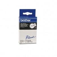 Brother páska TC-291 - 9mm x 7,7m - bílá / černý text - laminovaná - originální
