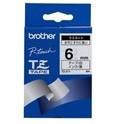 Brother páska TZ-211 - 6mm x 8m - bílá / černý text - laminovaná - originální (TZE-211)