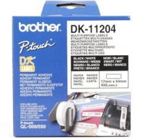 Brother - DK-11204 (papírové/univerzální štítek-400 ks) 17 x 54mm
