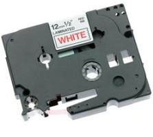 Brother páska TZ-232 - 12mm x 8m - bílá / červený text - laminovaná - originální (TZE-232)