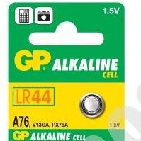 GP Alkaline Cell A76 LR44 1.5V 1ks