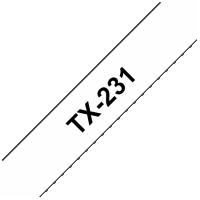 Brother páska TX-231 - 12mm x 15m - bílá / černý text - laminovaná - originální