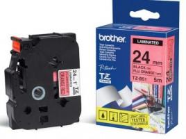 Brother páska TZ-B51 - 24mm x 8m - signální oranžová / černý text - laminovaná - originální (TZE-B51)