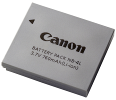 Canon NB 4L - Baterie fotoaparátu Li-Ion 760 mAh - pro IXUS 255; IXY 610, 620; LEGRIA mini; PowerSh