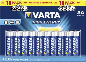 20x10 Varta High Energie Mignon AA LR 6 VPE maloochodní balení (489818)