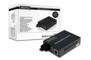 Digitus Media Converter 10/100/1000Base-T to 1000Base-LX + zdroj