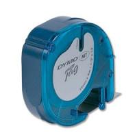 Dymo polyesterová páska 12mm x 4m - černý tisk, modrá páska 91225