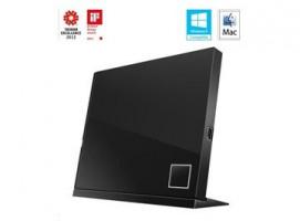 ASUS BLU-RAY Writer SBW-06D2X-U/BLK/G/AS, External Slim, black, USB
