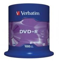 Verbatim DVD+R [ 100ks/kr., 4.7GB, 16x, spindle, matte stříbrná barva ]