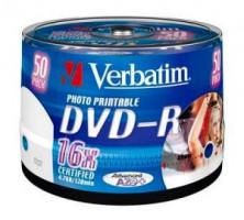 Verbatim DVD-R, 25-pack | 4.7GB | 16x | Retail Wide printable