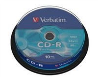 Verbatim CD-R [ 10ks/kr., 700MB, 52x, spindle ]
