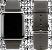 CASEual - Kožený náramek pro Apple Watch 42mm, hnědý