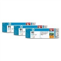 cartridge HP C9486A - light cyan - originální No.91 3-Ink Multipack pro DJ Z6100, 3 x 775ml