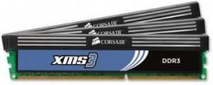 Corsair XMS3 6GB (Kit 3x2GB) 1600MHz DDR3, CL9 (9-9-9-24), chladič
