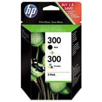cartridge HP CN637EE - black + color - originální, No.300 pro DJ F4280, D2560, D2660