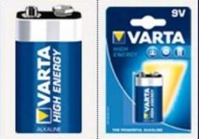 VARTA 1ks HighEnergy 9V E-BLOK/6LR61 baterie (cena za 1ks)