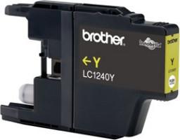 Brother inkoustová náplň LC-1240Y/ Žlutá/ 600 stran