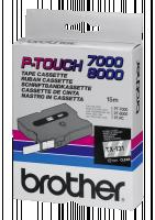 Brother páska TX-131 - 12mm x 15m - průsvitná / černý text - laminovaná - originální