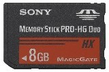 Sony MSHX8B Memory Stick PRO-HX Duo 8 GB, 50MB/s (240Mbps)* Read/Write