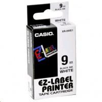 Casio XR-9 WE 9 mm páska - černý tisk na bílou pásku