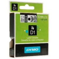 Dymo páska D1 12mm x 7m černý tisk, průhledná páska 45010