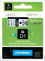 Dymo páska D1 19mm x 7m černý tisk, bílá páska 45803