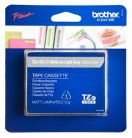 Brother páska TZ-MQL35 - 12mm x 5m - šedá / bílý text - laminovaná - originální (TZE-MQL35)