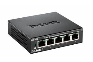 D-Link DES-105 kovový 5-port 10/100 Desktop Switch
