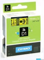 Dymo páska D1 19mm x 7m černý tisk, žlutá páska 45808