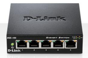 D-Link 5-port 10/100/1000 Gigabit Metal Housing Desktop Switch