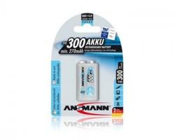 Ansmann akumulátor 9V NiMH 250 mAh (1 ks) maxE+