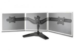 """Digitus stolní stojan pro tři monitory 15-24"""" - černý"""