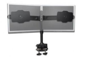"""Digitus stolní stojan pro dva monitory, černý, svorková základna, 24"""" - 32"""" TFT, maximální zatížení 15 kg na držák"""