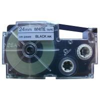Casio XR-24 WE1 24 mm páska - černý tisk na bílou pásku