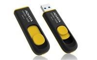 ADATA Flash Disk 32GB USB 3.0 Dash Drive UV128, černý/žlutý (R: 40MB / W: 25MB)
