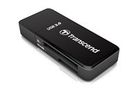 Transcend USB 3.0 čtečka paměťových karet, černá - SD, SDHC (UHS-I), SDXC (UHS-I), microSDHC (UHS-I), microSDXC (UHS-I)