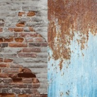 Lastolite 5713 skládací pozadí 1,5m x 2,1m textil- rezavý plech/opadaná omítka
