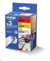Brother páska multipack TZ-231+TZ-431+TZ-631 - 12mm x 8mm bílá/červená/žlutá / černý text - originální (TZE-31M3)