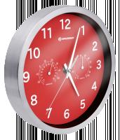 Bresser MyTime Thermo-/ Hygro Nástěnné hodiny 25cm, červená