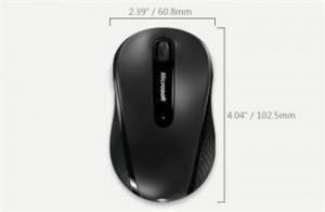 MICROSOFT myš Wireless Mobile Mouse 4000 Black (černá, bezdrátová)