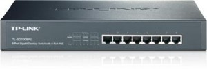 "TP-Link TL-SG1008PE Gigabit PoE+ switch, 8x10/100/1000, 124W, 13"" steel pouzdro"