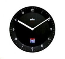 Braun BNC 006 Rádiem řízené nástěnné hodiny černá
