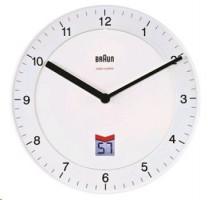 Braun BNC 006 Rádiem řízené nástěnné hodiny bílá barva
