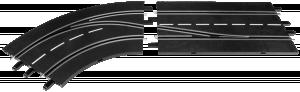 Carrera Digital 132 Spurwechsel LINKS, innen nach außen 30362