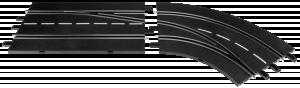 Carrera Digital 132 Spurwechsel RECHTS außen nach innen 30365