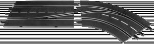 Carrera Digital 132 Spurwechsel RECHTS innen nach außen 30364
