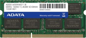 ADATA 8GB 1600MHz DDR3L CL11 SODIMM 1.35V (pro NTB)